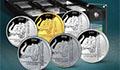 Монеты из металлов платиновой группы: иридий, родий, рутений, палладий